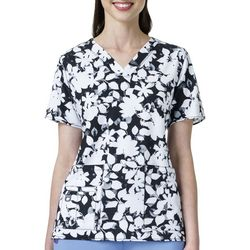 Carhartt Womens Cross Flex Abstract Floral Scrub Top