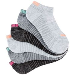 Puma Womens 6-pk. Heather Cushioned Low Cut Socks