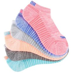 Puma Womens 6-pk. Heathered Cushioned Low Cut Socks
