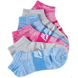 Puma Womens 6-pk. Superlite Colorful Space Dye Low Cut Socks