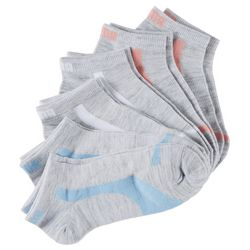 Puma Womens 6-pk. Heathered Colorblock Low Cut Socks