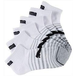 Puma Womens 6-pk. Striped Cushioned Quarter Crew Socks