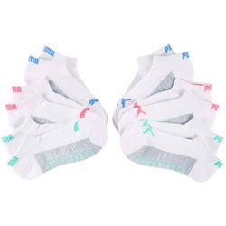 Puma Womens 6-pk. Colorblocked Cushioned Low Cut Socks