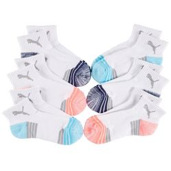 Puma Womens 6-pk. Terry Cushioned Quarter Crew Socks