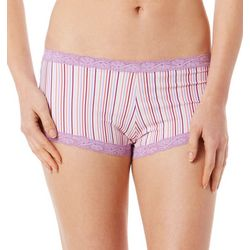 Maidenform Printed Lace Trim Boyshort Panties 40760