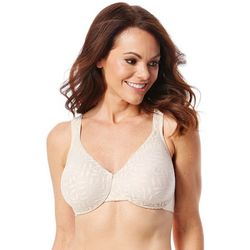 Olga Sheer Leaves Minimizer Underwire Bra 35519
