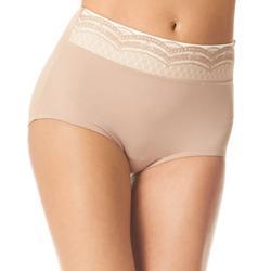 No Pinching Microfiber Lace Hi-Cut Panties RS7401P