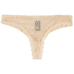 Rene Rofe Geometeric Lace Thong Panties 126558