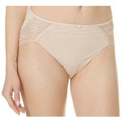 Bali Desire Microfiber Hi-Cut Lace Trim Panties