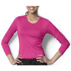 WonderWink Womens Silky Viscose Long Sleeve Top