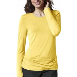 WonderWink Womens Silky Viscose Long Sleeve Top