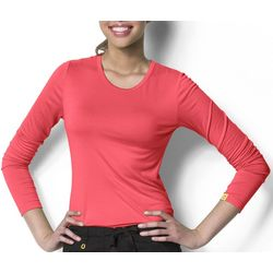 WonderWink Plus Silky Long Sleeve Top