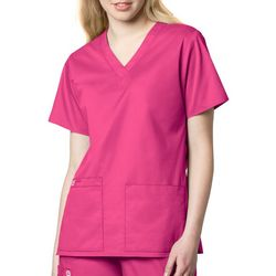 WonderWink Plus WonderWORK V-Neck Scrub Top