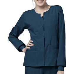 WonderWink Womens Sporty Button Front Jacket