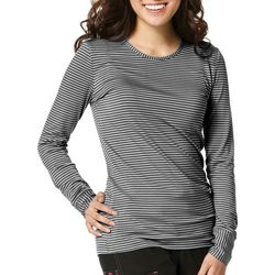WonderWink Womens Striped Long Sleeve Top