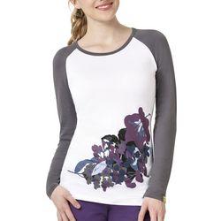 WonderWink Womens Nightshade Floral Top