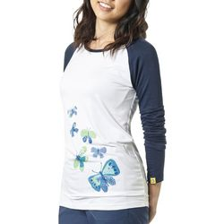 WonderWink Womens So Fly Butterfly Raglan Top