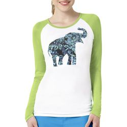 WonderWink Womens Wild Paws Elephant Top