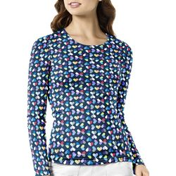 WonderWink Womens Kaleidoscope Scrub Top