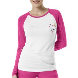 WonderWink Womens Dots In Style Baseball Top