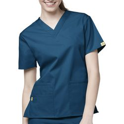 WonderWink Womens Bravo 5 Pocket Scrub Top
