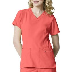 WonderWink Womens Easy Fit Contoured V-Neck Scrub