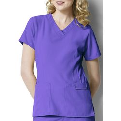 WonderWink Plus Easy Fit V-Neck Scrub Top