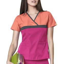 WonderWink Womens Origins Tri Charlie Scrub Top