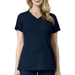 WonderWink Womens Easy Fit Shirred Wrap Scrub