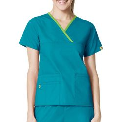 WonderWink Plus Charlie 5 Pocket Wrap Scrub Top