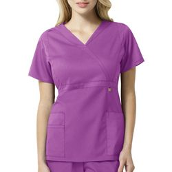 WonderWink Womens Elizabeth Mock Wrap Scrub Top