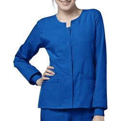 WonderWink Plus 4 Stretch Sporty Snap Scrub Jacket