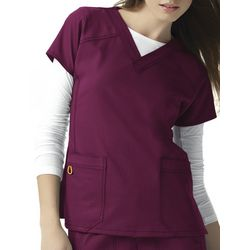 WonderWink Plus Four Stretch Sporty Scrub Top