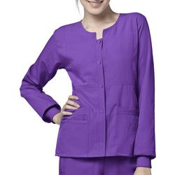 WonderWink Womens 4 Stretch Snap Scrub Jacket