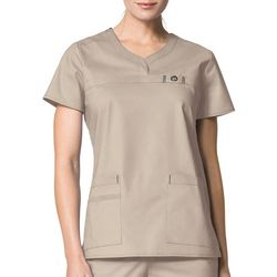 WonderWink Womens Patience Curved Neck Scrub Top