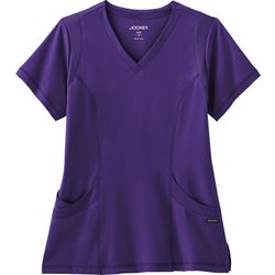 Plus Modern Mesh Scrub Top