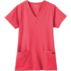 Plus Zipper Pocket Scrub Top