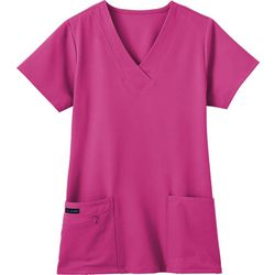 Jockey Plus Zipper Pocket Scrub Top