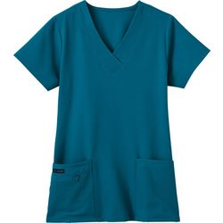 Jockey Womens Zipper Pocket Scrub Top