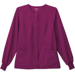 Jockey Womens Classic Snap Front Scrub Jacket
