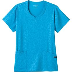 Jockey Plus Tear Drop Print Scrub Top
