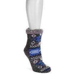 Muk Luks Womens 1-Pair Porcelain Blue Cabin Socks
