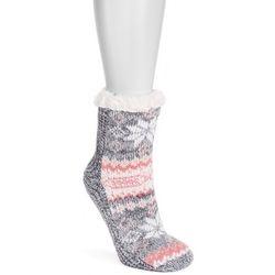 Muk Luks Womens 1-Pair Rose Petal Cabin Socks