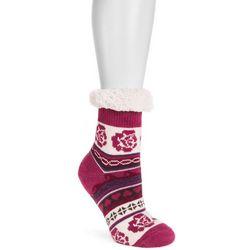 Muk Luks Womens Rose Powder Fluffy Cabin Socks