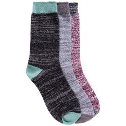 Muk Luks Womens 3-Pair Pack Boot Socks