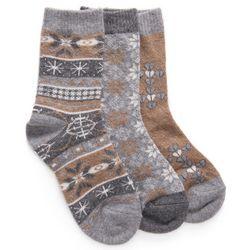 Muk Luks Womens Mocha Mouse Holiday Boot Socks