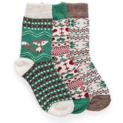 Muk Luks Womens Emerald Isle Holiday Boot Socks