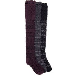 Muk Luks Womens Microfiber Over the Knee Socks