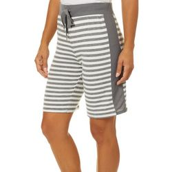 Jaclyn Intimates Womens Striped Butter Knit Pajama Shorts