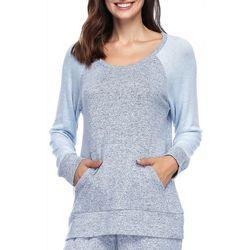 Ink + Ivy Womens Combo Front Pocket Pajama Sweatshirt